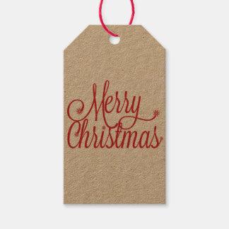 メリークリスマスのギフトのラベル(クラフト) ギフトタグ