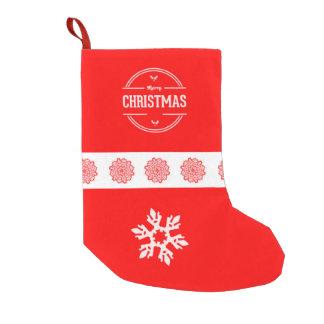 メリークリスマスのクリスマスのストッキング スモールクリスマスストッキング