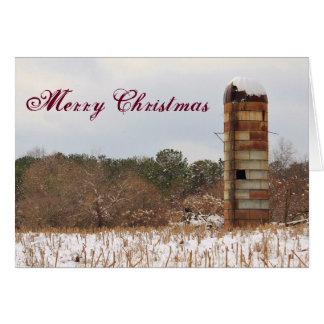 メリークリスマスのサイロ カード