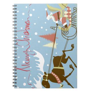 メリークリスマスのサンタのそり ノートブック