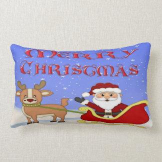 メリークリスマスのサンタのLumbarの枕 ランバークッション