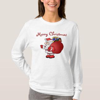 メリークリスマスのサンタのTシャツ Tシャツ