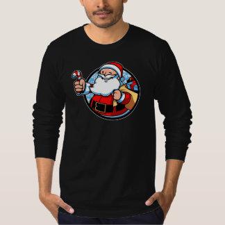 メリークリスマスのサンタクロースのTシャツ Tシャツ