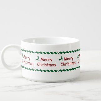 メリークリスマスのシンプルなお祝いのデザイン チリボウル