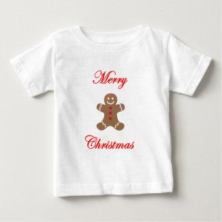 メリークリスマスのジンジャーブレッドマン ベビーTシャツ