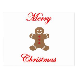 メリークリスマスのジンジャーブレッドマン ポストカード