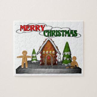 メリークリスマスのジンジャーブレッド場面 ジグソーパズル