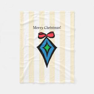 メリークリスマスのダイヤモンドのオーナメントSMのフリースブランケット フリースブランケット