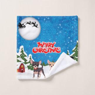 メリークリスマスのチワワ バスタオルセット