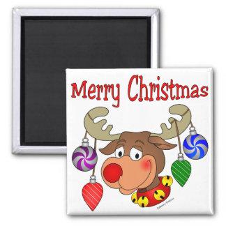 メリークリスマスのトナカイのオーナメント マグネット