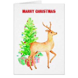 メリークリスマスのトナカイカード カード