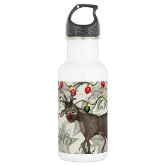 メリークリスマスのトナカイ ウォーターボトル