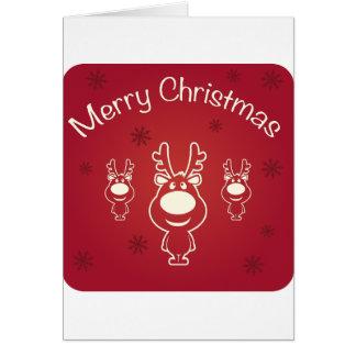 メリークリスマスのトナカイ カード