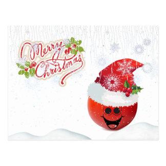 メリークリスマスのトマトの郵便はがき ポストカード
