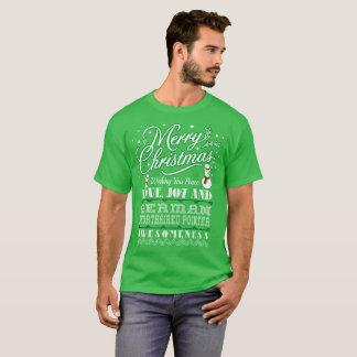 メリークリスマスのドイツShorthairedポインター犬 Tシャツ