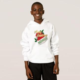 メリークリスマスのナッシュビルの子供のフード付きスウェットシャツ