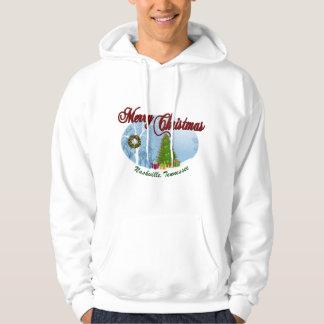 メリークリスマスのナッシュビルの男性スエットシャツ パーカ