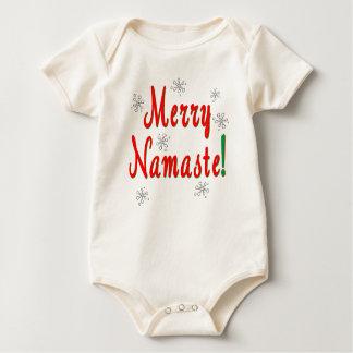 メリークリスマスのナマステのギフト ベビーボディスーツ