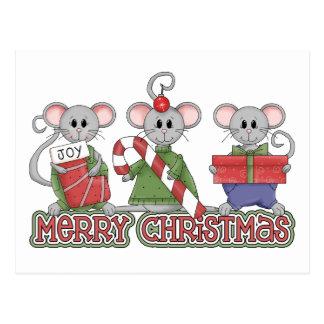 メリークリスマスのネズミ ポストカード