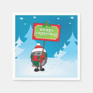メリークリスマスのハリネズミ スタンダードカクテルナプキン