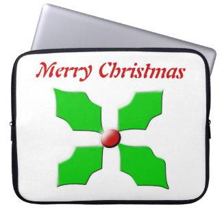 メリークリスマスのヒイラギのカスタマイズ可能なラップトップのバッグ ラップトップスリーブ