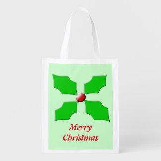 メリークリスマスのヒイラギのカスタムのエコバッグ エコバッグ