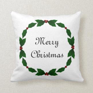 メリークリスマスのヒイラギの休日の枕 クッション