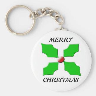 メリークリスマスのヒイラギKeychain キーホルダー