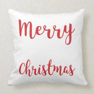 メリークリスマスのブラシの原稿の枕 クッション