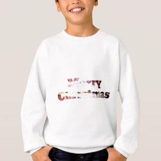 メリークリスマスのベーコンのプリント スウェットシャツ