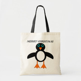 メリークリスマスのペンギンのカスタムのギフトバッグ トートバッグ