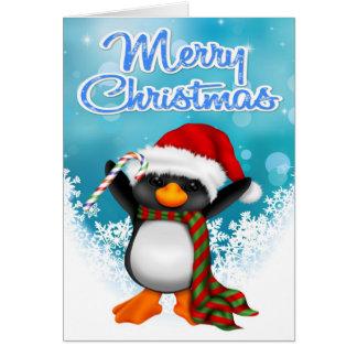 メリークリスマスのペンギンの挨拶状 カード