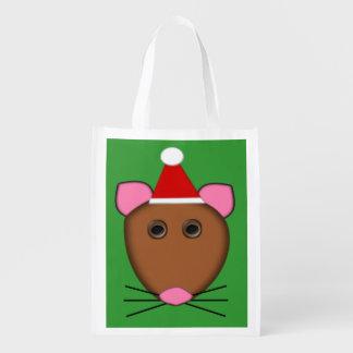 メリークリスマスのマウスのエコバッグ エコバッグ