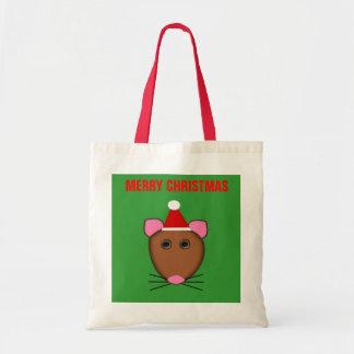 メリークリスマスのマウスのカスタマイズ可能なバッグ トートバッグ