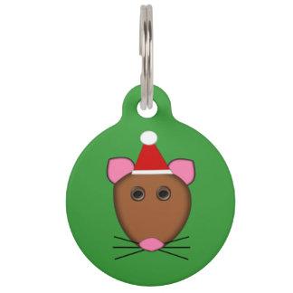 メリークリスマスのマウスのカスタムなドッグタッグ ペット ネームタグ