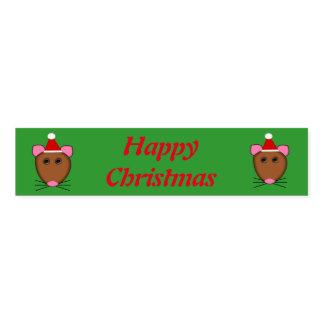 メリークリスマスのマウスのカスタムなナプキンバンド ナプキンバンド