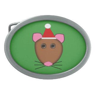 メリークリスマスのマウスのベルトの留め金 卵形バックル