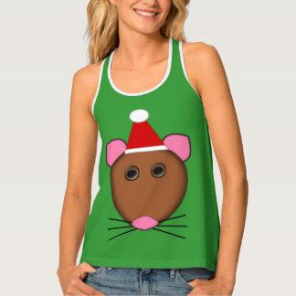 メリークリスマスのマウスの女性タンクトップ タンクトップ