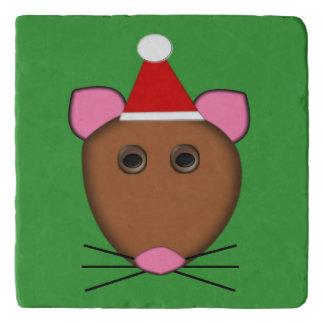 メリークリスマスのマウスの石Trivet トリベット