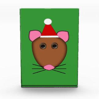 メリークリスマスのマウスの装飾 表彰盾