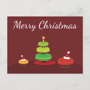 メリークリスマスのマカロン|の郵便はがき クリスマスポストカード