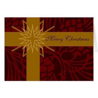 メリークリスマスのマツ円錐形の現在III カード