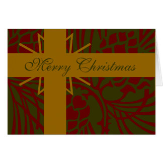 メリークリスマスのマツ円錐形の現在IV カード