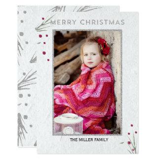 メリークリスマスのマツ枝 カード