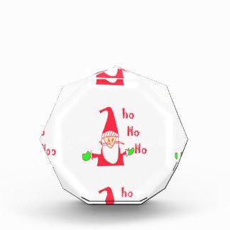 メリークリスマスのメリークリスマスおもしろいなサンタHohoho 表彰盾