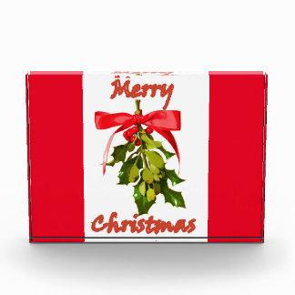 メリークリスマスのヤドリギの赤 表彰盾