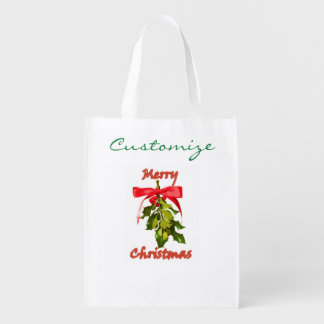 メリークリスマスのヤドリギ エコバッグ