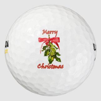メリークリスマスのヤドリギ ゴルフボール