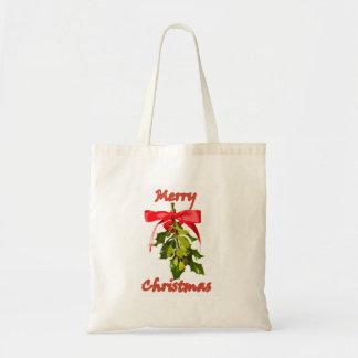 メリークリスマスのヤドリギ トートバッグ