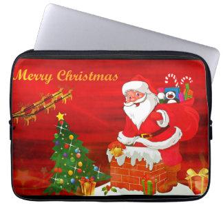 メリークリスマスのラップトップスリーブ ラップトップスリーブ